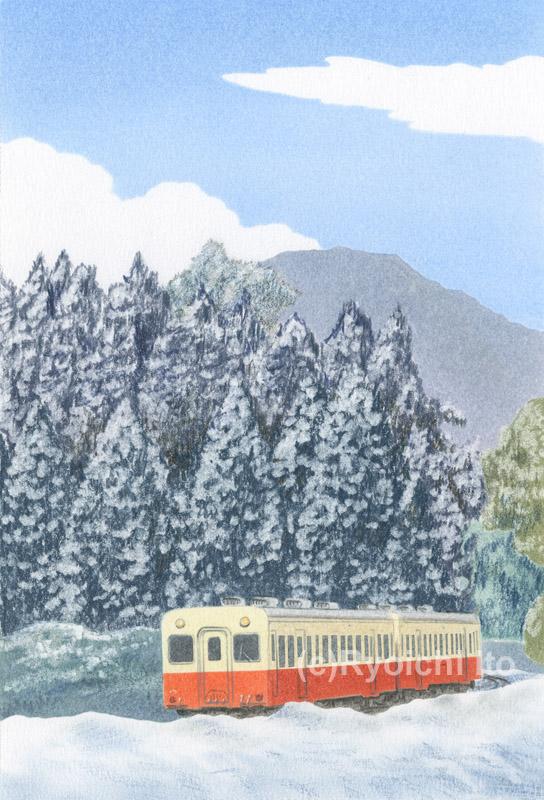 小湊鉄道《色鉛筆》 (22cm×15cm)