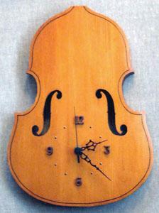 造形 工作 木工 コントラバス時計 いとう良一イラスト作品集